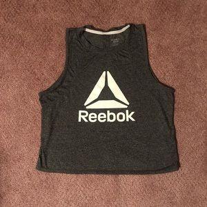 Reebok Dark Grey Crop Top